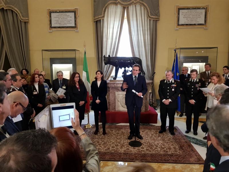 Convegno Camera dei Deputati - Roma 23.1.2018 - S. Dambruoso inaugura la mostra annessa al Convegno